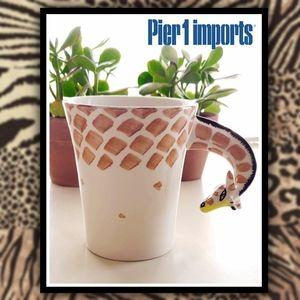 PIER 1 IMPORTS Giraffe Neck Coffee Mug